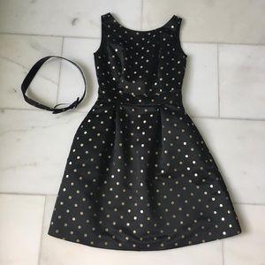 Black/Gold Polka Dot Dress